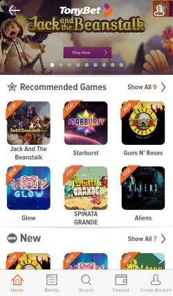 TonyBet Casino App | Play video slots like KOI Princess and Guns 'n' Roses