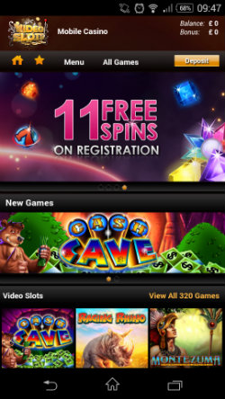 Get free spins at Video Slots Mobile Casino