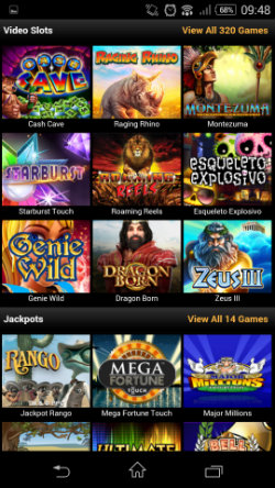 Play mobile slots & progressive jackpots at Video Slots Mobile Casino