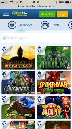 William hill mobile slots online typing games uk