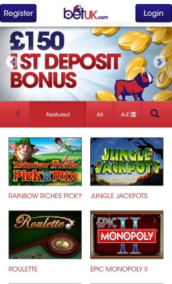 BetUK Mobile Casino | Claim up to £150 in free casino bonus