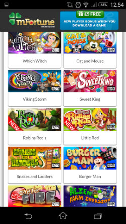 Play mobile slots at mFortune Mobile Casino