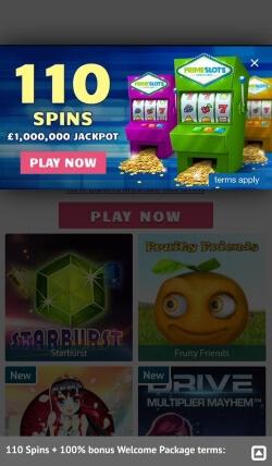 Prime Slots Mobile App | Claim up to £200 free casino bonus