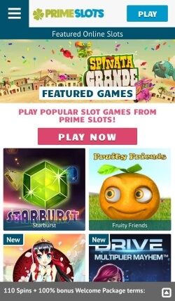 prime slots mobile