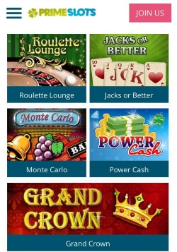 prime slots mobile casino