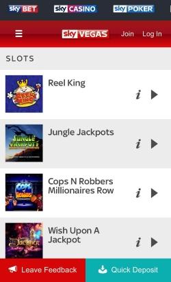 Sky Vegas Mobile Casino | Get up to £1,000 free casino cash