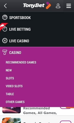 TonyBet Mobile Casino | Play live casino games including live blackjack and live roulette