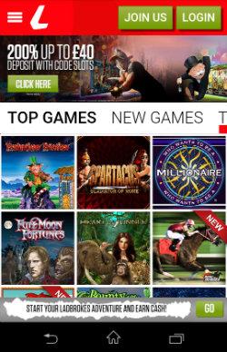 Get casino bonuses and casino rewards at Ladbrokes Mobile Slots