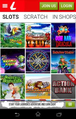 Play mobile slots at Ladbrokes Mobile Slots