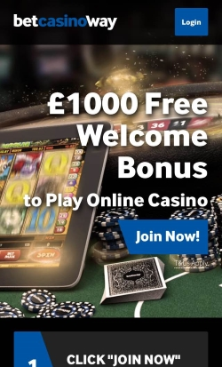 Betway Mobile Casino   Get up to £1,000 in free casino cash