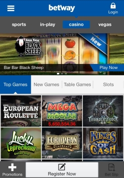 Betway Mobile Casino   Play mobile roulette and mobile blackjack