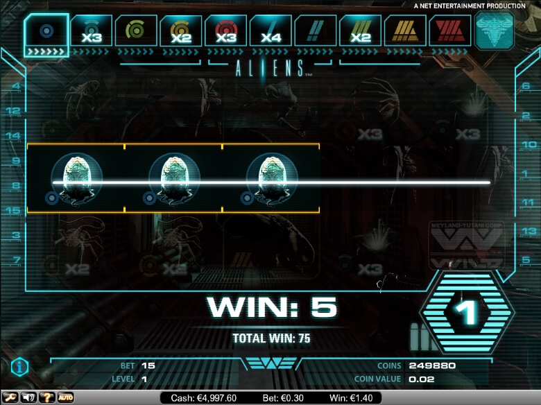 AliensOnline Video Slot