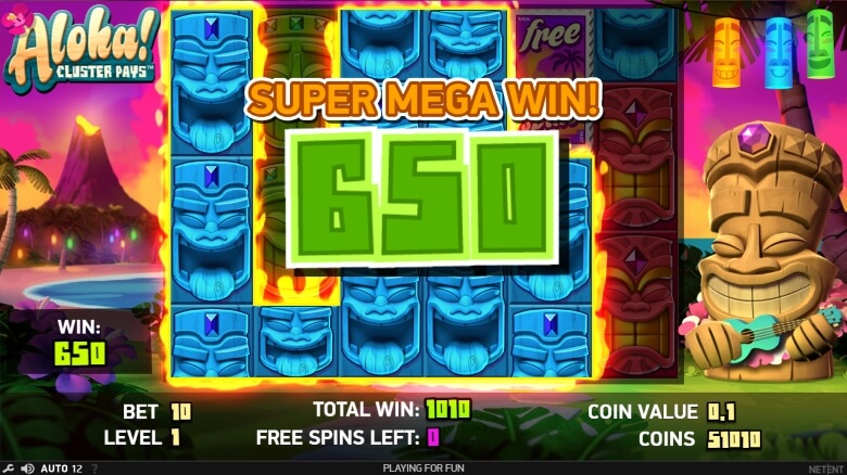 Aloha! Cluster Pays Video Slot -by NetEnt