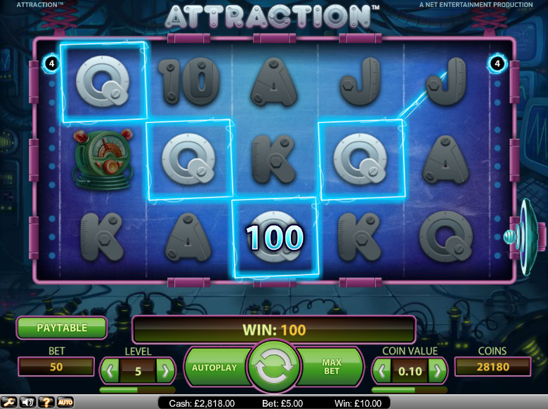 Attraction slot - video slot