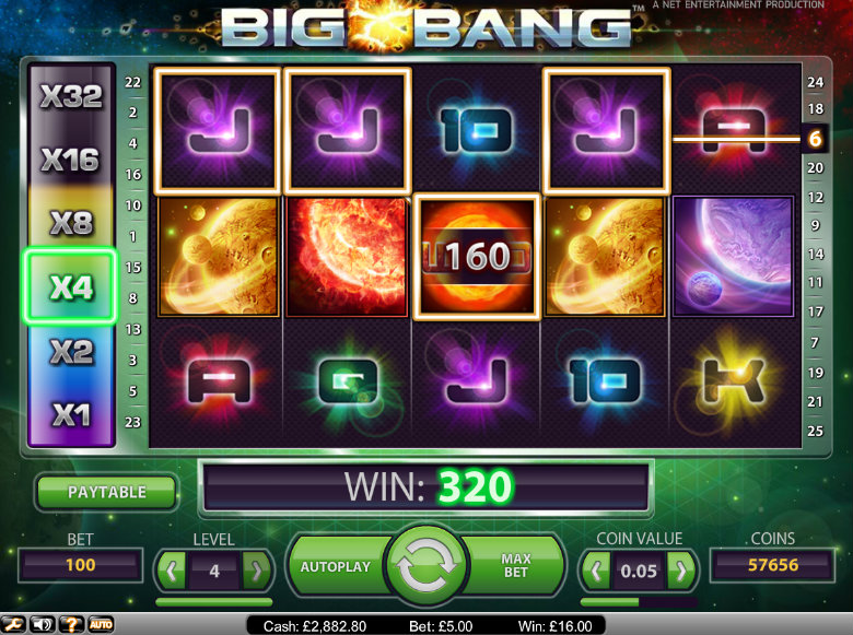 Big Bang slot - video slot