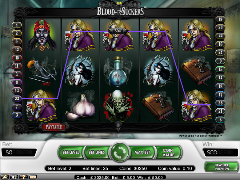 Blood Suckers slot - video slot