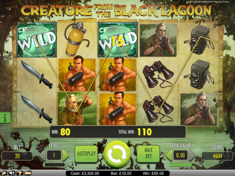 Creature from the Black Lagoon - video slot