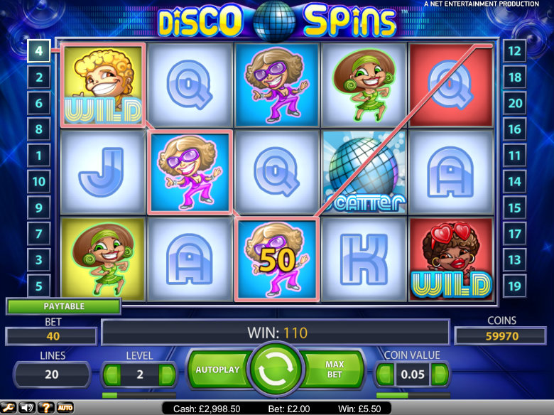 Disco Spins slot - video slot