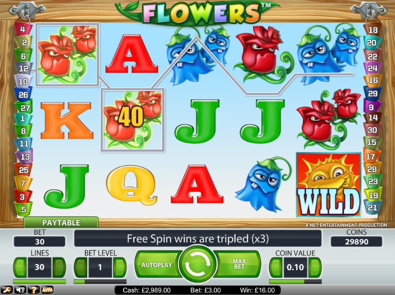 Flowers - video slot