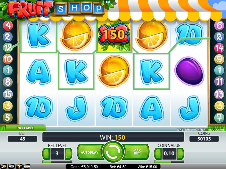 Fruit Shop - video slot