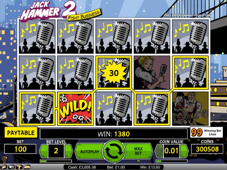 Jack Hammer 2 - Video Slot