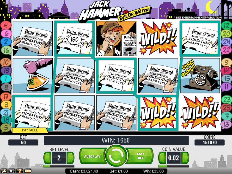 Jack Hammer - Video Slot