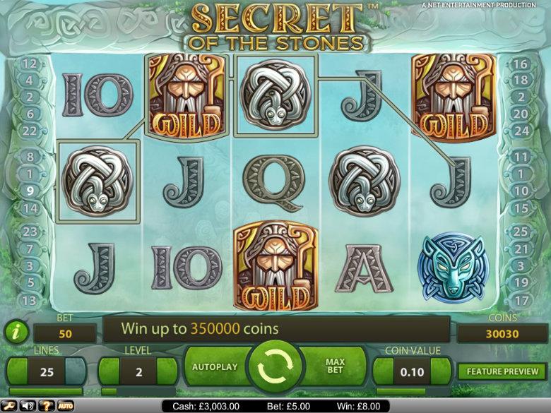 Secret of the Stones - Video Slot