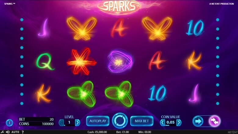 Sparks Video Slot - Online Slot