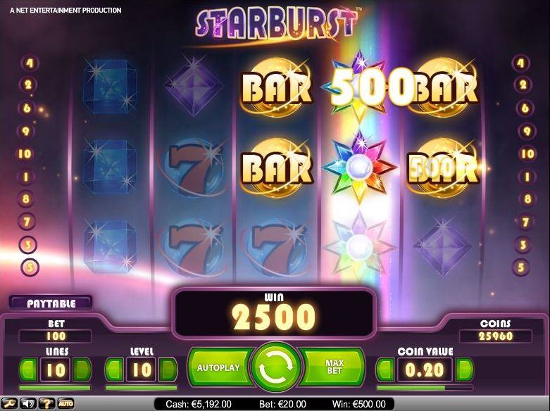 Starburst slot - video slot