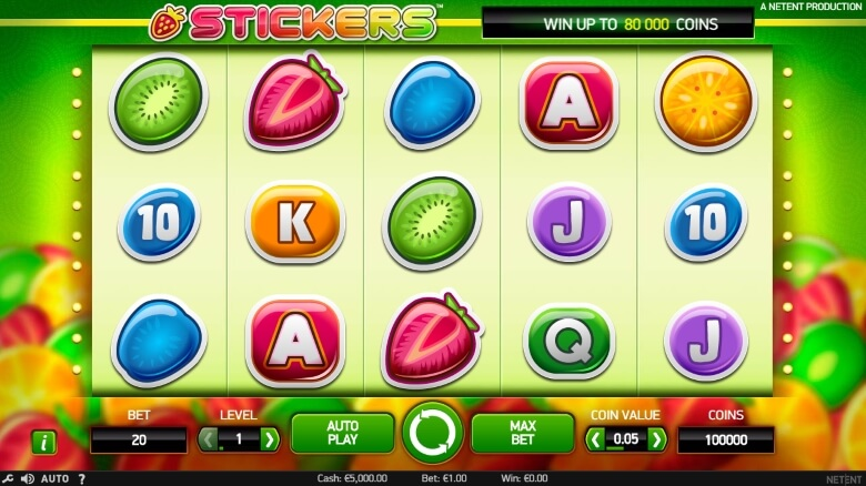 Stickers Online Slot - Video slot