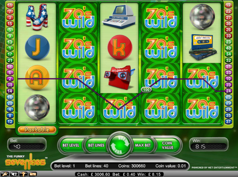 The Funky Seventies slot - video slot