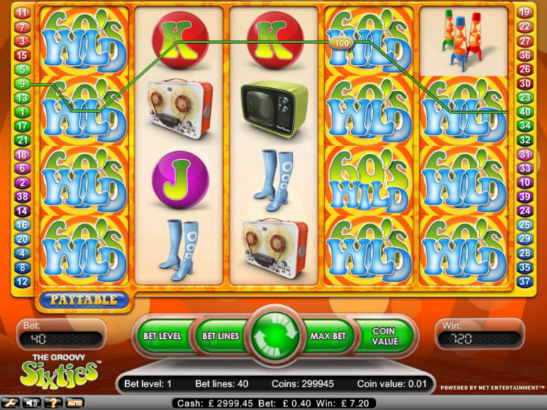 The Groovy Sixties - video slot