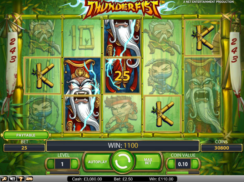 Thunderfist - video slot