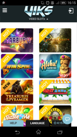 Play mobile slots at VIKS Mobile Casino