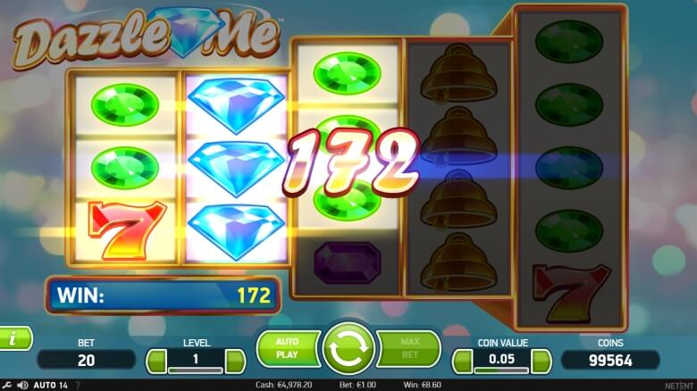 Dazzle Me Video Slot by Swedish Developer NetEnt