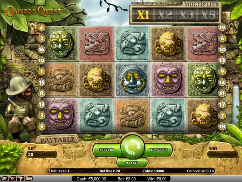 Gonzos Quest Video Slot by NetEnt