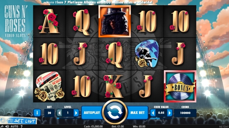 Guns 'n' Roses Video Slot