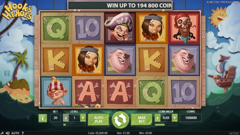 Hook's Heroes Video Slot
