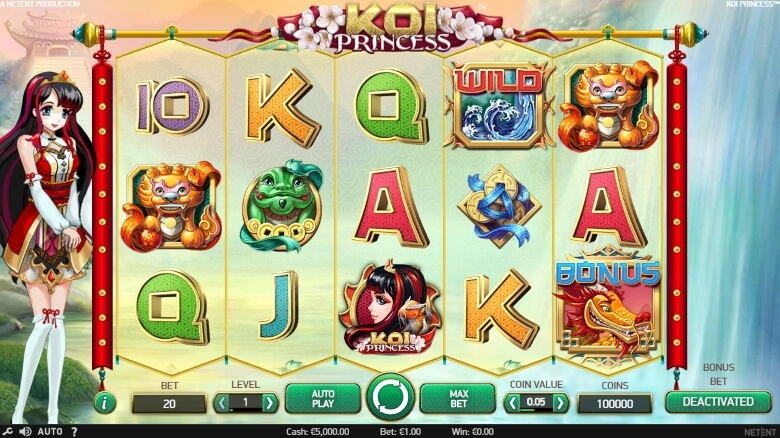 KOI Princess Video Slot by NetEnt