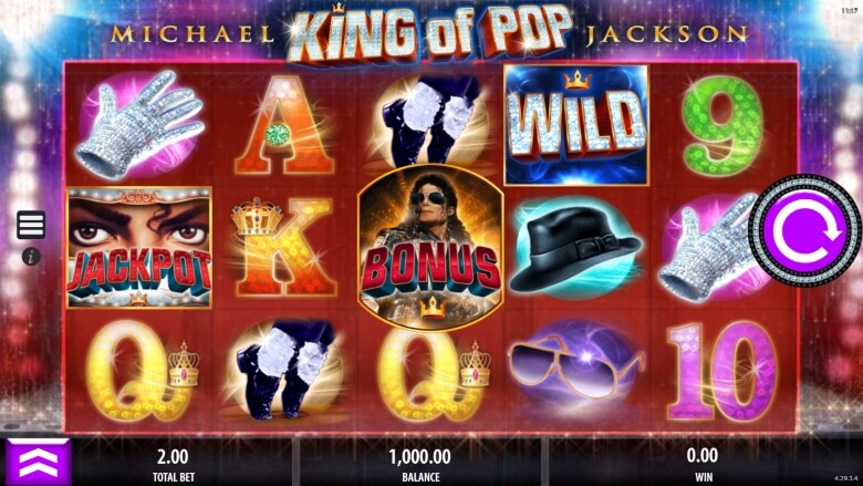 Michael Jackson King of Pop Video Slot