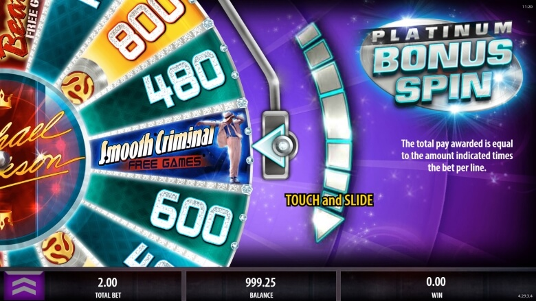 Michael Jackson King of Pop onlien slot from SG Interactive
