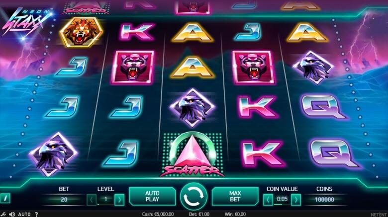 Neon Staxx Video Slot