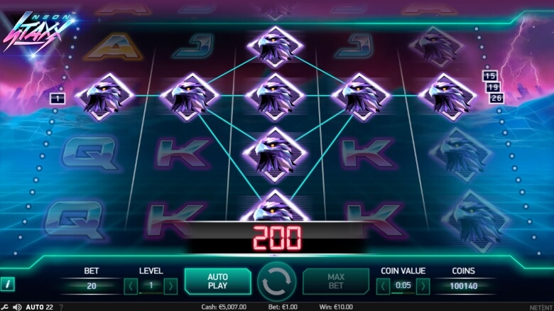 Neon Staxx online slot by NetEnt