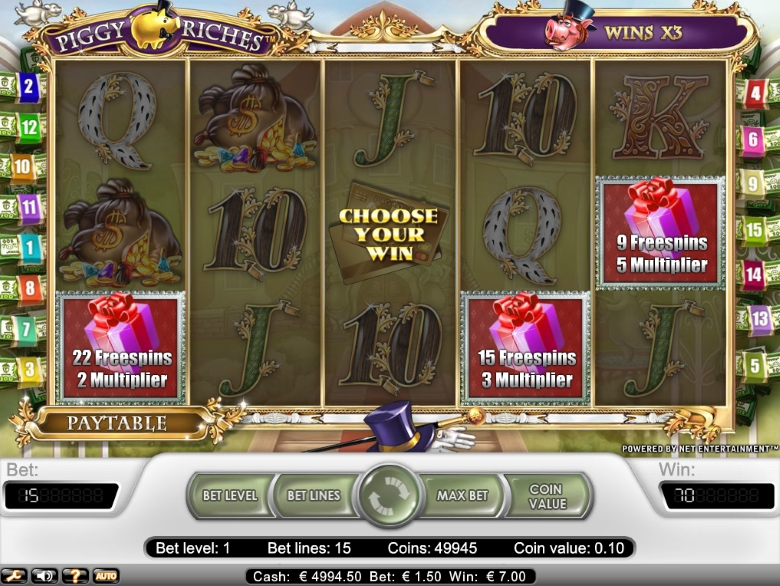 Piggy Riches online slot by NetEnt