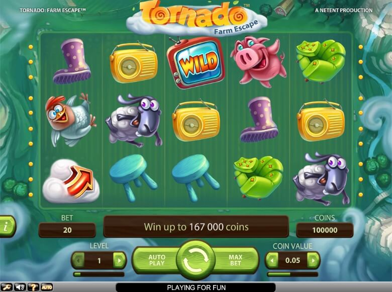 Tornado: Farm Escape Video Slot