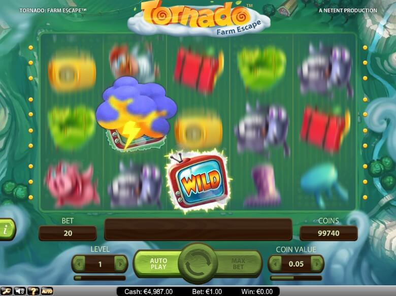 Tornado: Farm Escape online slot by NetEnt