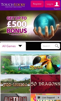 Touch Lucky Mobile Casino | get £5 free no deposit needed