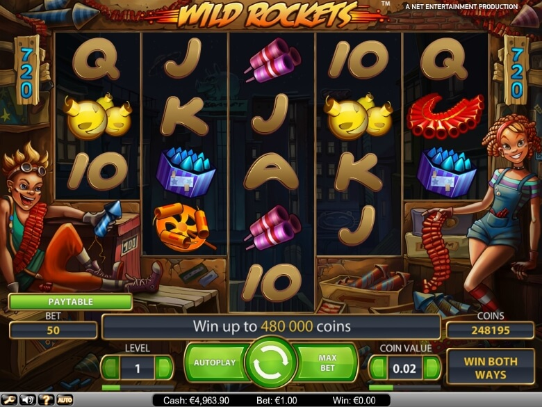 Wild Rockets Video Slot