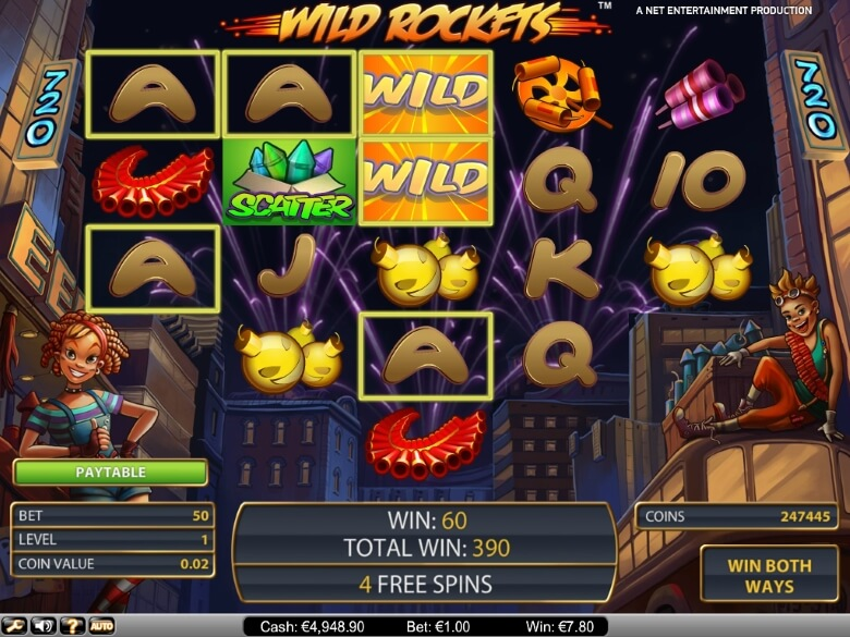 Wild Rockets online slot by NetEnt