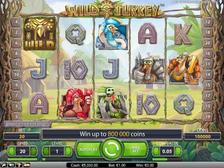 Wild Turkey Video Slot